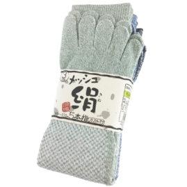 絹綿メッシュ五本指カカト付 3足組 AG246