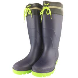 WS3111 PVCフード付安全長靴 紺/緑