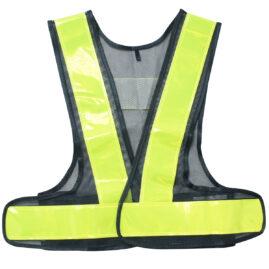 安全ベスト 女性用フリーサイズ 紺×黃 WS2701