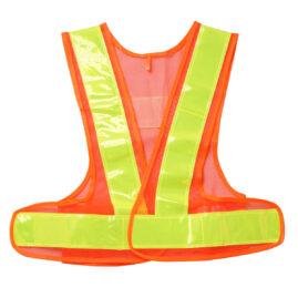 安全ベスト 女性用フリーサイズ 橙×黃 WS2704